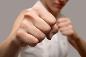 Homme voulant combattre