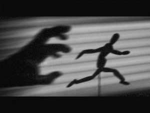 image représentant la peur par la fuite