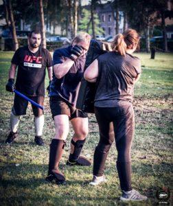 un small group training en Krav Maga