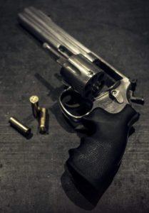 pistolet et balles